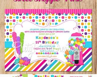 SWEET SHOPPE PINK birthday invitation - you print
