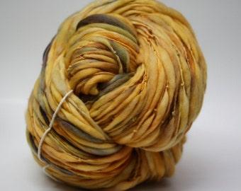 Handspun Thick and Thin Yarn Wool Slub  tts(tm) Merino Hand dyed One-Pounder Nautilus Super Bulky