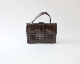 60s Mod Handbag / Vintage Pocketbook / Vintage Purse / Meyers Handbag