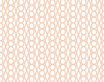 Half Yard Catnap Jewels in Peach, Lizzy House for Andover Fabrics, 100% Cotton Fabric, A 5475 O4