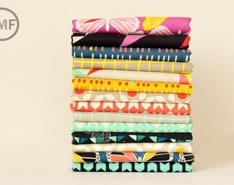 Fat Quarter Bundle Moonlit Full Collection, 14 Pieces, Rashida Coleman Hale, Cotton+Steel, RJR Fabrics, 100% Cotton Fabric