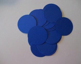 25 Blue Die Cut Circles 2 inches