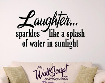 Wand Aufkleber für Zuhause - lachen - Bad Aufkleber