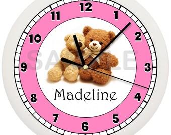 Teddy Bear Personalized Wall Clock