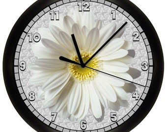 Decorative White and Yellow Daisy Wall Clock