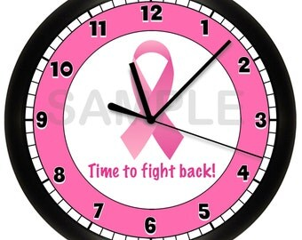 Breast Cancer Awareness Cancer Survivor Pink Ribbon Wall Clock