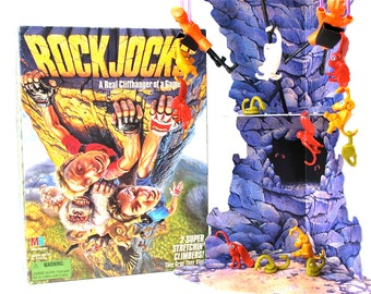 Rock Jocks The Cliffhanger Game with 2 Super Stretchin Climbers by Milton Bradley 1994