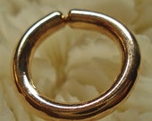 "14KR Gold 14G Septum Ring (6.7mm -1/4"" id) - Ready To Ship - SALE!!!"