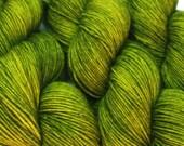 sock yarn sw merino wool nylon RADIOACTIVE SWAMP hand dyed fingering weight