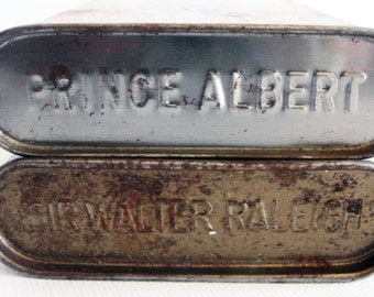Prince Albert and Sir Walter Raleigh in a Tin Collectible Can Vintage Tobacco