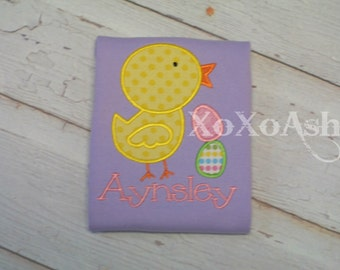 Girls Easter Chick with Stacked Eggs---Embroidered shirt or Bodysuit
