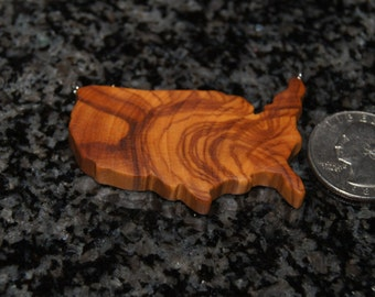 Olive Wood Pendant, wood jewelry, USA