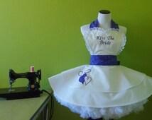 Shimmering Purple Bride Apron