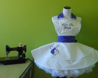 Shimmering Purple Bride Apron