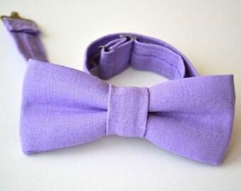 Boys Bowtie Ages 2-10 in Lavender Linen