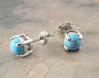 Turquoise Gemstone Post Earrings
