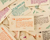 Vintage Paper Fortunes, Full Set of 52, from a Penny Fortune Napkin Dispenser (c.1950s) - Swami / Madame X, Paper Crafts, Altered Art