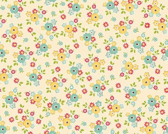 Sidewalks by October Afternoon for Riley Blake Designs - Small Floral in Cream - 1/2 Yard
