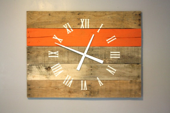Large Rectangular 36 By 26 Wall Clock Pallet