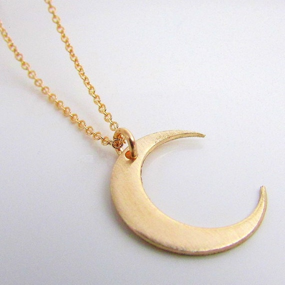 Moon Necklace Gold Crescent Moon Necklace by ...