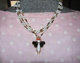 Unique Bug Vintage Necklace