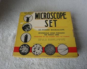 Vntage Gilbert Microscope Set # 400, Circa. 1955