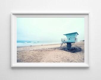Torrey Pines Lifeguard Tower - Beach Home Decor, San Diego California Coast - Surf Art Beach Photography - Large Wall Art Prints Available