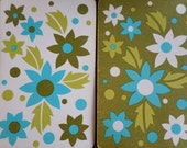 Vintage Double Deck of Playing Cards, Bridge Deck, Floral Cards, Green and Teal Flowers, Vintage Games