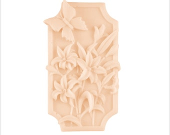 Butterfly Flower Soap: Lovely Decorative Bar Soap with 3D Design, You Choose Color & Scent
