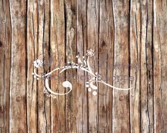 NEW ITEM 3.5 x 4ft Vinyl Photography Backdrop / El Pomar Wood