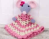 Emily the Mouse Lovey / Security Blanket - PDF Crochet Pattern - Instant Download - Blankie Baby Blanket