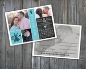 INSTANT DOWNLOAD : Save the Date PS, Elements Template, Mr. & Mrs. Smith Design