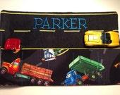 Personalized Boys Car Roll Hotwheel Holder Matchbox Roll You choose fabric Great for Gifts Flower Girl Ring Bearer