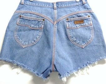 Gitano High Waisted Cut off denim Shorts Waist 28 inches