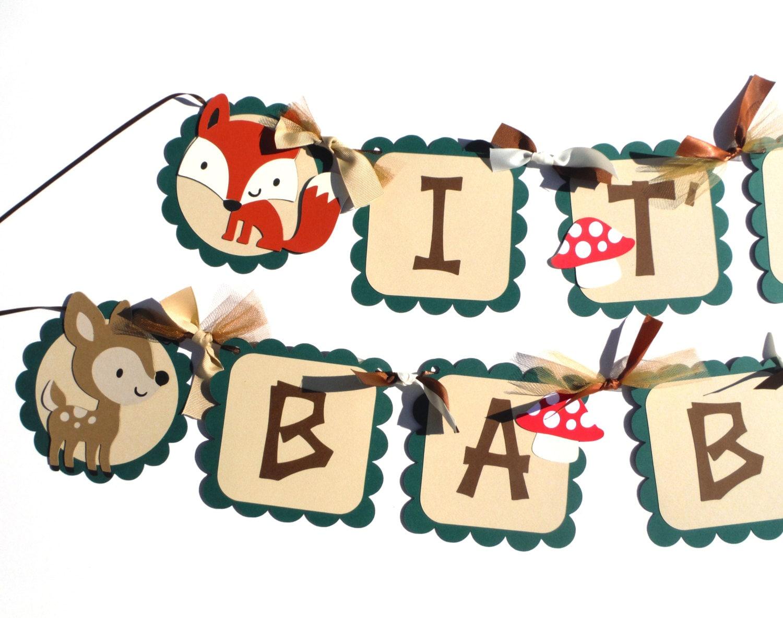Baby Shower Girl Animal Theme ~ Baby shower woodland animal theme it s a boy or girl