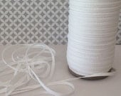"Twill Tape - White Twill Ribbon Tape 1/8"" wide - (10 yards) - Lightweight cotton twill tape 3mm width - white skinny twill tags"