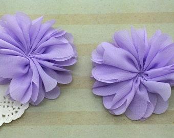 Lavender Chiffon Ballerina Flowers Scalloped edges Hallie DIY flowers wholesale flowers wedding bridesmaids baby headband embellishment