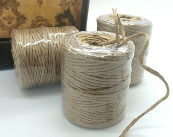 Jute rope cording etsy - Hemp rope craft ideas an authentic rustic feel ...