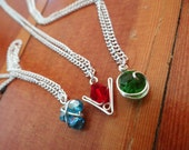 The Legend of Zelda® Crystal Spiritual Stone Set of 3 Necklaces (in silver)