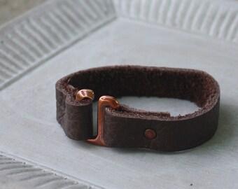 Skinny Leather Cuff Bracelet, Dark Brown Leather Bracelet, Stacking Bracelet, Boho Cuff, Boho Bracelet, Bohemian Cuff, Arm Party, Festival