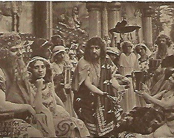 Scene From Homers Odyssey Miland Films 1910s Vintage Postcard