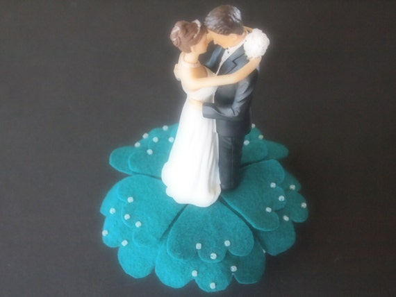 teal wedding cake toppers wedding cake topper and groom teal green 20789
