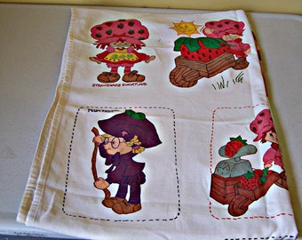 Vintage Strawberry Shortcake and Friends Fabric Panel