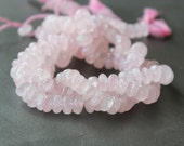 Rose Quartz Smooth Rondelle Beads 8mm FULL STRAND (14 Inches)