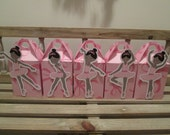 Pretty Little African American Ballerina  Gable Box  Set of 10