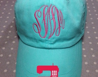 Monogrammed Hat - Ball Cap