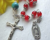 SALE - Lovely Our Lady of Guadalupe Rosary - Gemstone Catholic Rosary
