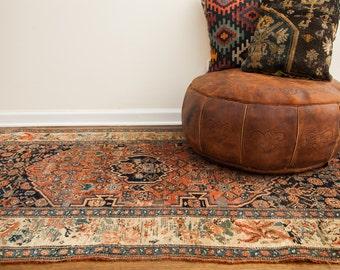 4x7 Antique Persian Bijar Rug