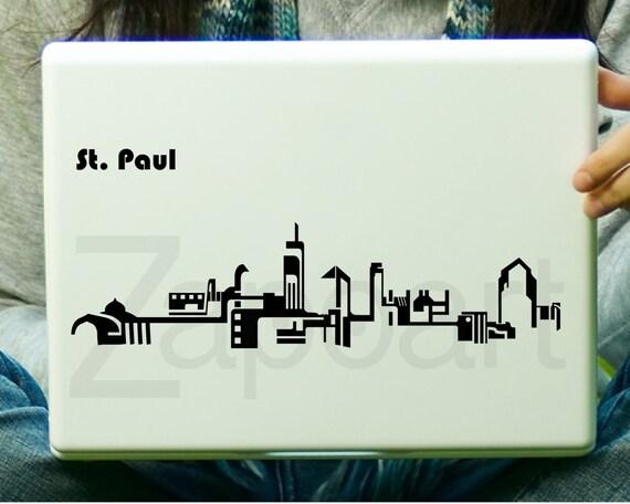 St. Paul Skyline Sticker Decal Laptop Decal iPad