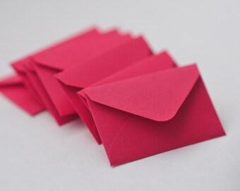 Tiny Envelopes - Red // Set of 10 // Love Notes // Valentine's // Embellishment // Decoration // Scrapbooking // Ephemera